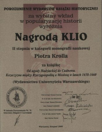 Nagroda KLIO 2008